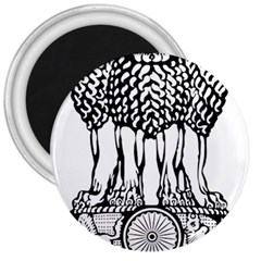 National Emblem Of India  3  Magnets by abbeyz71