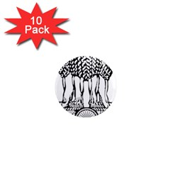 National Emblem Of India  1  Mini Magnet (10 Pack)  by abbeyz71