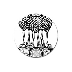 National Emblem Of India  Magnet 3  (round) by abbeyz71