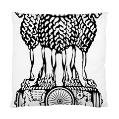 National Emblem Of India  Standard Cushion Case (two Sides) by abbeyz71
