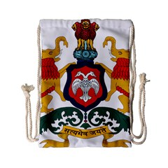 State Seal Of Karnataka Drawstring Bag (small) by abbeyz71
