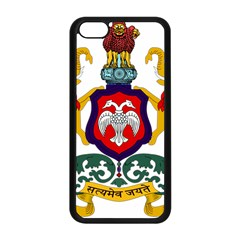 State Seal Of Karnataka Apple Iphone 5c Seamless Case (black) by abbeyz71