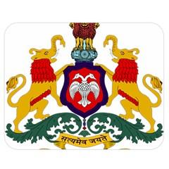 State Seal Of Karnataka Double Sided Flano Blanket (medium)  by abbeyz71