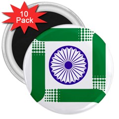 Seal Of Indian State Of Jharkhand 3  Magnets (10 Pack)  by abbeyz71