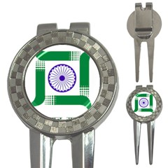 Seal Of Indian State Of Jharkhand 3 In 1 Golf Divots by abbeyz71