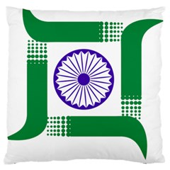 Seal Of Indian State Of Jharkhand Standard Flano Cushion Case (two Sides) by abbeyz71