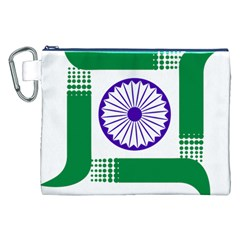 Seal Of Indian State Of Jharkhand Canvas Cosmetic Bag (xxl) by abbeyz71