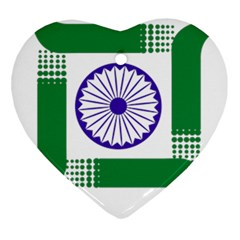 Seal Of Indian State Of Jharkhand Heart Ornament (two Sides) by abbeyz71