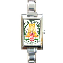 Seal Of Indian State Of Tamil Nadu  Rectangle Italian Charm Watch by abbeyz71