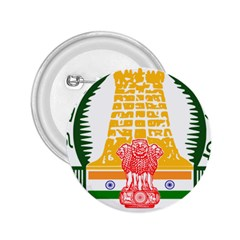 Seal Of Indian State Of Tamil Nadu  2 25  Buttons by abbeyz71