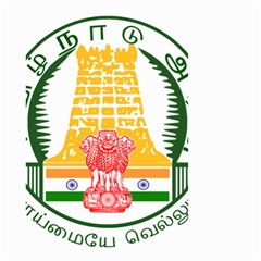 Seal Of Indian State Of Tamil Nadu  Small Garden Flag (two Sides) by abbeyz71
