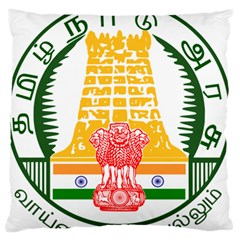 Seal Of Indian State Of Tamil Nadu  Standard Flano Cushion Case (one Side) by abbeyz71