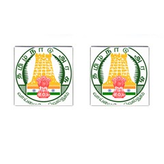 Seal Of Indian State Of Tamil Nadu  Cufflinks (square) by abbeyz71