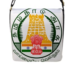 Seal Of Indian State Of Tamil Nadu  Flap Messenger Bag (l)  by abbeyz71