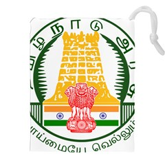 Seal Of Indian State Of Tamil Nadu  Drawstring Pouches (xxl) by abbeyz71