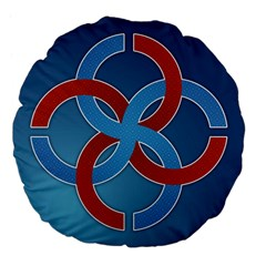 Svadebnik Symbol Slave Patterns Large 18  Premium Flano Round Cushions by Nexatart