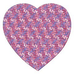 Pattern Abstract Squiggles Gliftex Jigsaw Puzzle (heart) by Nexatart