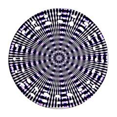Pattern Stripes Background Round Filigree Ornament (two Sides) by Nexatart