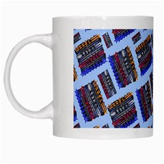 Abstract Pattern Seamless Artwork White Mugs by Nexatart