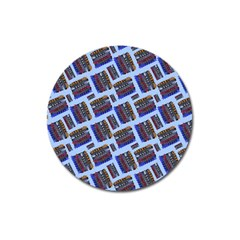 Abstract Pattern Seamless Artwork Magnet 3  (round) by Nexatart