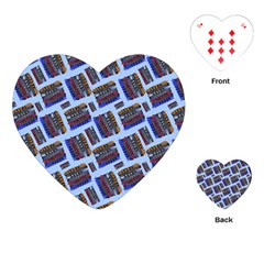 Abstract Pattern Seamless Artwork Playing Cards (Heart)  by Nexatart