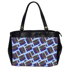 Abstract Pattern Seamless Artwork Office Handbags (2 Sides)  by Nexatart