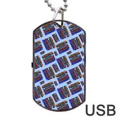 Abstract Pattern Seamless Artwork Dog Tag Usb Flash (one Side) by Nexatart