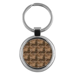 Collage Stone Wall Texture Key Chains (round)  by Nexatart