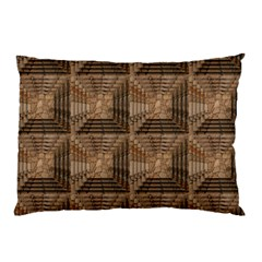 Collage Stone Wall Texture Pillow Case (two Sides) by Nexatart