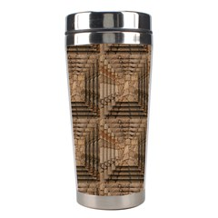 Collage Stone Wall Texture Stainless Steel Travel Tumblers by Nexatart