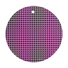 Pattern Grid Background Round Ornament (Two Sides) by Nexatart