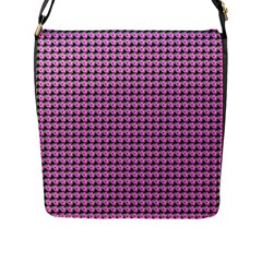 Pattern Grid Background Flap Messenger Bag (l)  by Nexatart