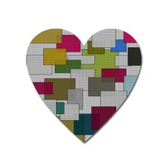 Decor Painting Design Texture Heart Magnet by Nexatart