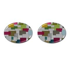 Decor Painting Design Texture Cufflinks (oval) by Nexatart