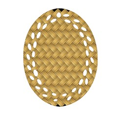 Wood Illustrator Yellow Brown Ornament (oval Filigree) by Nexatart