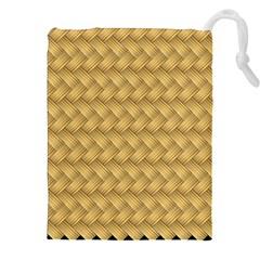 Wood Illustrator Yellow Brown Drawstring Pouches (xxl) by Nexatart