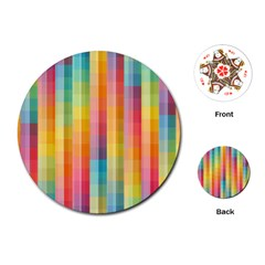 Background Colorful Abstract Playing Cards (round)  by Nexatart