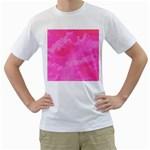 Sky pattern Men s T-Shirt (White) (Two Sided)