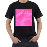 Sky pattern Men s T-Shirt (Black) (Two Sided)