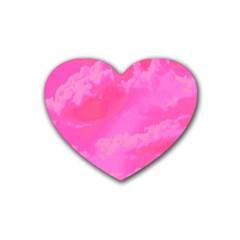 Sky Pattern Rubber Coaster (heart)  by Valentinaart