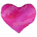 Sky pattern Large 19  Premium Heart Shape Cushions