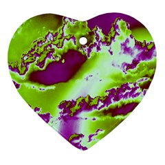 Sky Pattern Ornament (heart) by Valentinaart