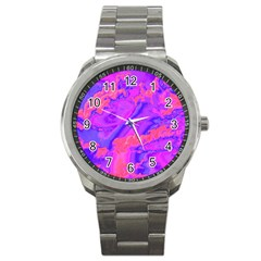 Sky Pattern Sport Metal Watch by Valentinaart