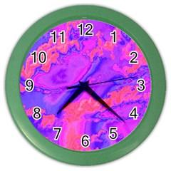 Sky Pattern Color Wall Clocks by Valentinaart