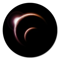 Planet Space Abstract Magnet 5  (round) by Nexatart
