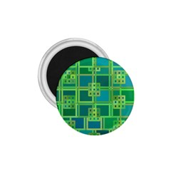 Green Abstract Geometric 1.75  Magnets by Nexatart