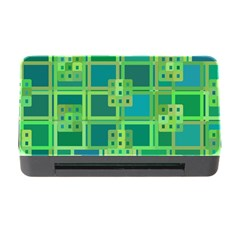 Green Abstract Geometric Memory Card Reader With Cf by Nexatart