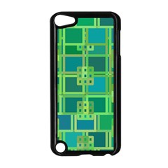 Green Abstract Geometric Apple Ipod Touch 5 Case (black) by Nexatart