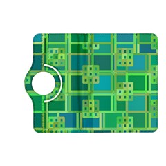 Green Abstract Geometric Kindle Fire Hd (2013) Flip 360 Case by Nexatart