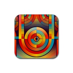 Abstract Pattern Background Rubber Square Coaster (4 Pack)  by Nexatart